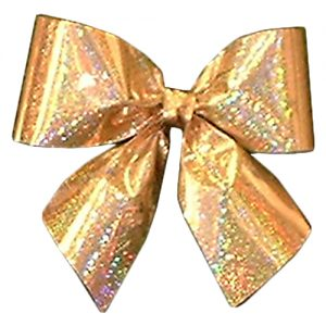 Gold Holographic Bow