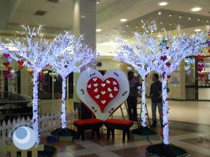 Valentine's LED display for shopping centres