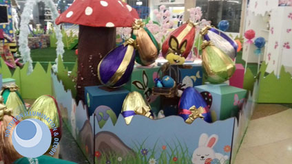 Easter display and activation for shopping malls